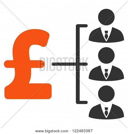 Staff Pound Payment vector icon. Staff Pound Payment icon symbol. Staff Pound Payment icon image. Staff Pound Payment icon picture. Staff Pound Payment pictogram. Flat staff pound payment icon.