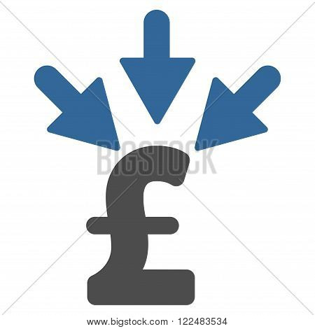 Aggregate Pound Payment vector icon. Aggregate Pound Payment icon symbol. Aggregate Pound Payment icon image. Aggregate Pound Payment icon picture. Aggregate Pound Payment pictogram.