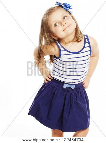 happy time for little girl