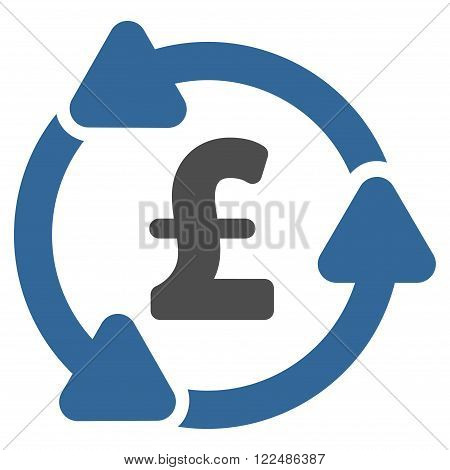 Pound Circulation vector icon. Pound Circulation icon symbol.