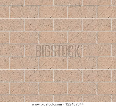 Seamless Cinder Block Wall with Pink Cement Bricks