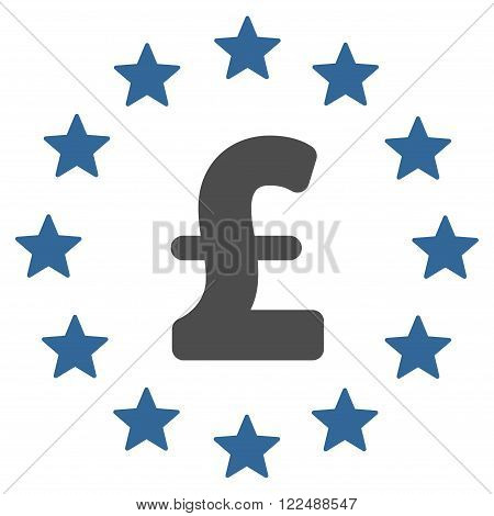 Pound Stars vector icon. Pound Stars icon symbol. Pound Stars icon image. Pound Stars icon picture. Pound Stars pictogram. Flat pound stars icon. Isolated pound stars icon graphic.
