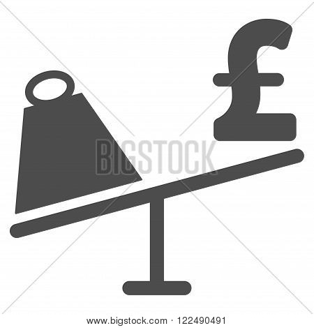 Market Pound Price Swing vector icon. Market Pound Price Swing icon symbol. Market Pound Price Swing icon image. Market Pound Price Swing icon picture. Market Pound Price Swing pictogram.