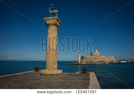 Place In The Port Of Rhodes, Where Stood The Colossus Of Rhodes
