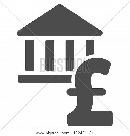 Pound Bank vector icon. Pound Bank icon symbol. Pound Bank icon image. Pound Bank icon picture. Pound Bank pictogram. Flat pound bank icon. Isolated pound bank icon graphic.