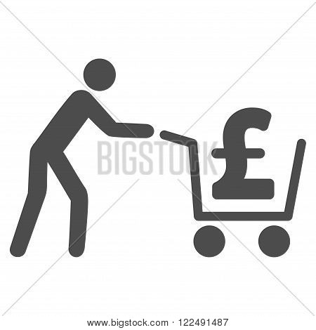 Pound Cash Out vector icon. Pound Cash Out icon symbol. Pound Cash Out icon image. Pound Cash Out icon picture. Pound Cash Out pictogram. Flat pound cash out icon.