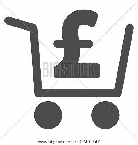Pound Checkout vector icon. Pound Checkout icon symbol. Pound Checkout icon image. Pound Checkout icon picture. Pound Checkout pictogram. Flat pound checkout icon.