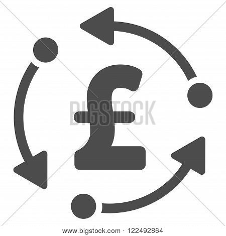 Pound Rotation vector icon. Pound Rotation icon symbol. Pound Rotation icon image.