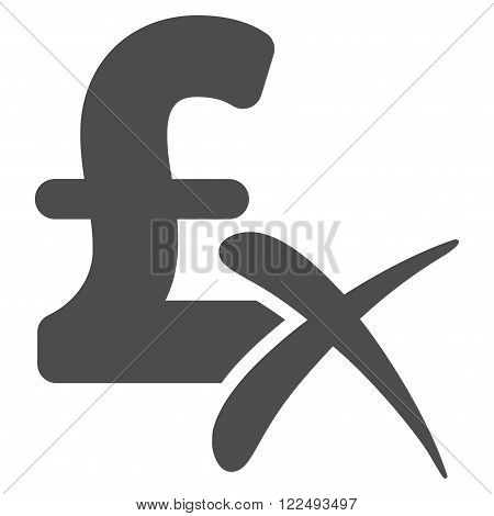 Reject Pound vector icon. Reject Pound icon symbol. Reject Pound icon image. Reject Pound icon picture. Reject Pound pictogram. Flat reject pound icon. Isolated reject pound icon graphic.