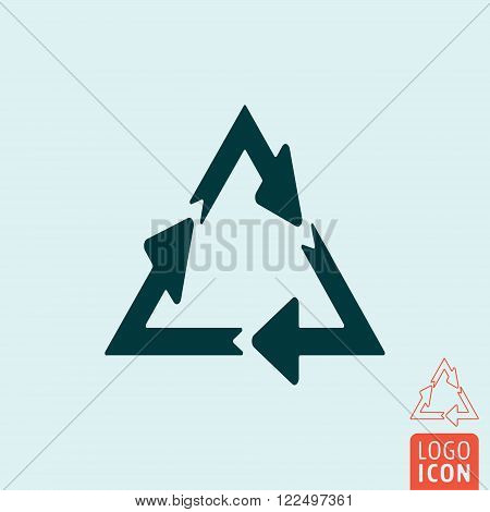 Recycle icon. Recycle symbol. Recycle arrows isolated. Vector illustration