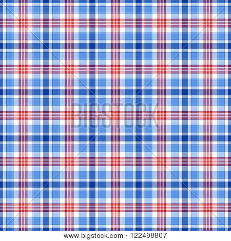 Blue red and white plaid tissue background