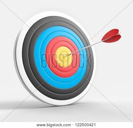 3D Isolated Bullseye Background