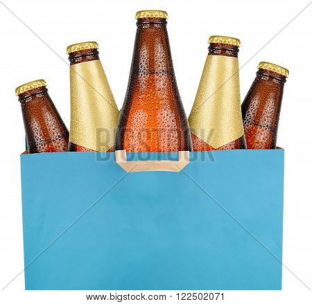 Bag With Brown Beer Bottles
