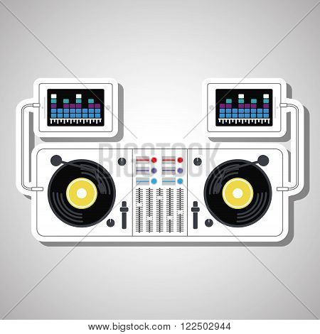 Music concept with icon design, vector illustration 10 eps graphic.