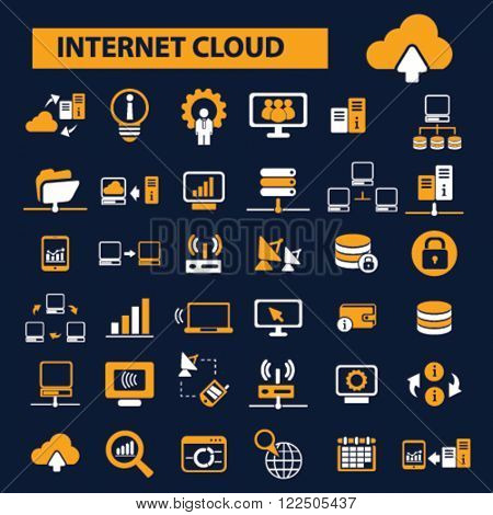 internet cloud icons