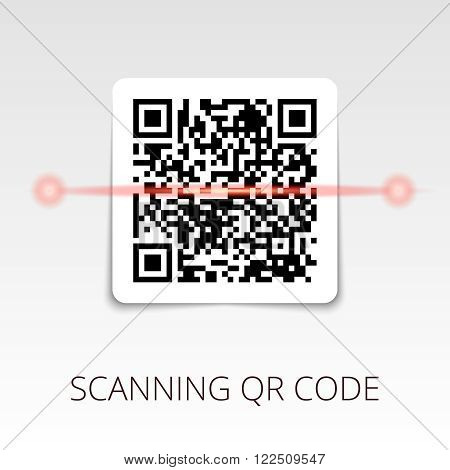 sample qr code ready to scan. with shadow sticker.