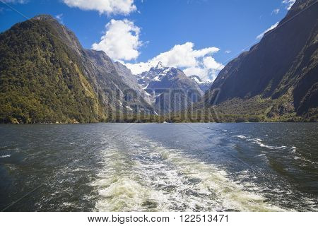 At the Milford Sound New Zealand South Island