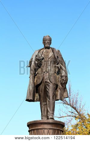MOSCOW - OCTOBER 2: Bronze monument to Shukhov on a bronze pedestal -   on October 2, 2014 in Moscow