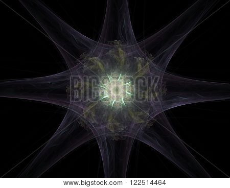 Abstract design made of sacred symbols signs geometry and designs on the subject of astrology alchemy magic