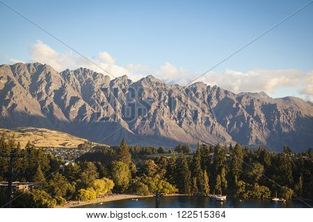 View from Queenstown to the Remarkables New Zealand