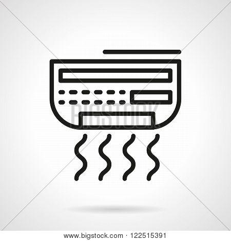 Conditioner appliance black line vector icon
