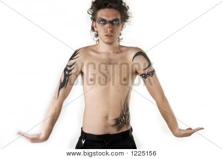 Stock photo : Tattoo Boy