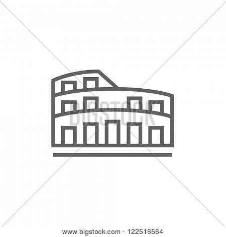 Colosseum line icon.