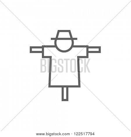 Scarecrow line icon.