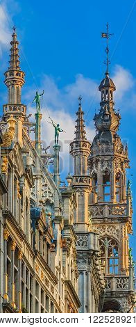 Gothic Building In Grand Place Brussels