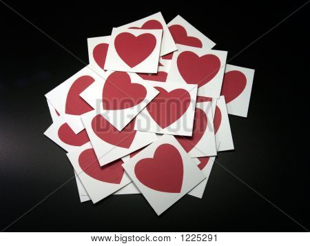 Bunch Of Hearts On Black