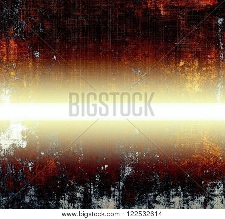 Grunge texture in ancient style, aged background with creative decor and different color patterns: yellow (beige); brown; red (orange); black; white