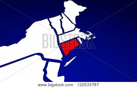Connecticut CT State United States of America 3d Animated State Map