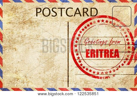 Greetings from eritrea card with some soft highlights