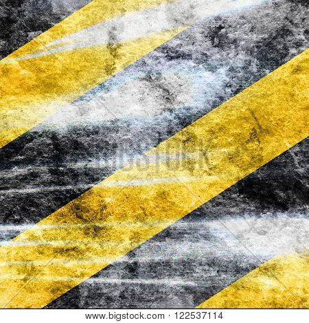 Black and yellow hazard lines with clean lines