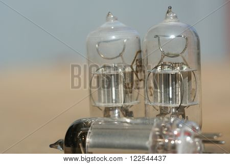 Radio Lamp Amplifier. Electronic Vacuum Tube.