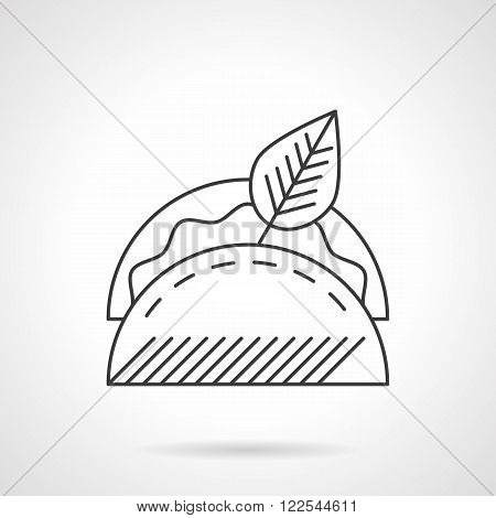 Taco line icon flat thin line vector icon