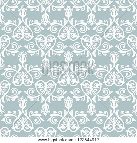 Oriental vector classic blue and white ornament. Seamless abstract background with repeating elements