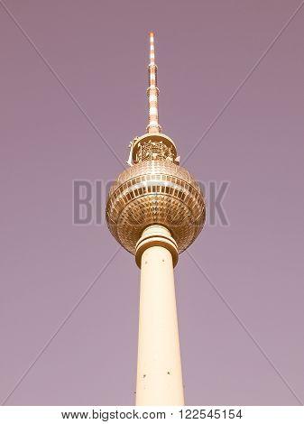 Berlin Fernsehturm Vintage