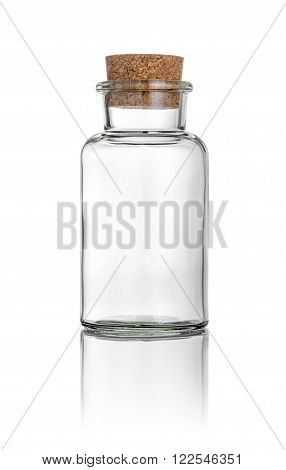 Glass With A Cork On A White Background