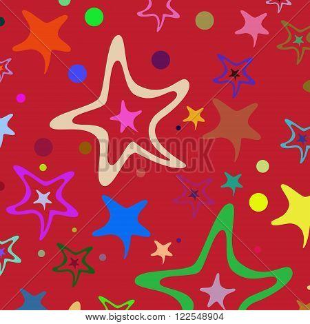 Seamless Pattern Stars 32