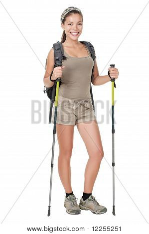 Hiker Woman Isolated