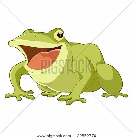 Vector image of the Cartoon smiling frog