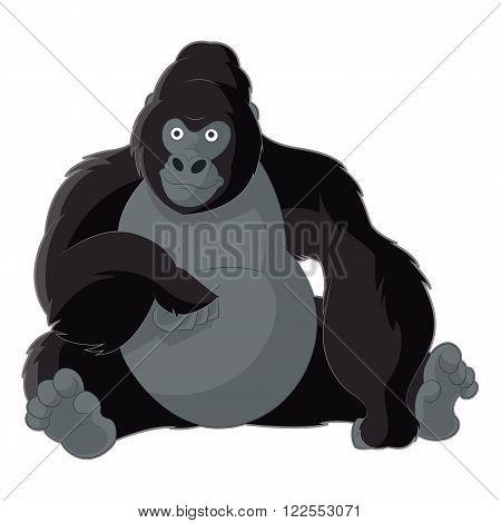 Vector image of the Cartoon smiling gorilla