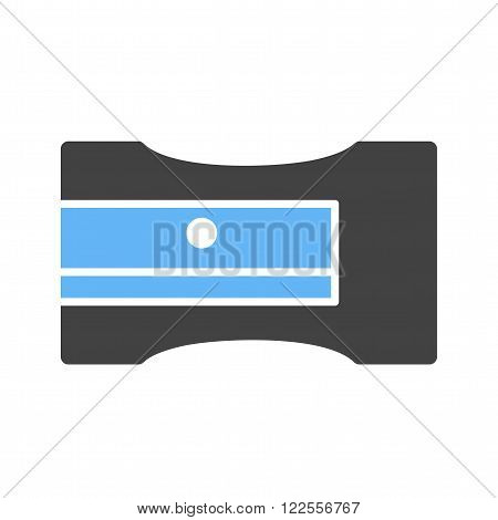 Sharpener, pencil, stationery icon vector image. Can also be used for stationery. Suitable for use on web apps, mobile apps and print media.
