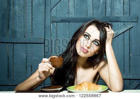 Sensual Woman Eating