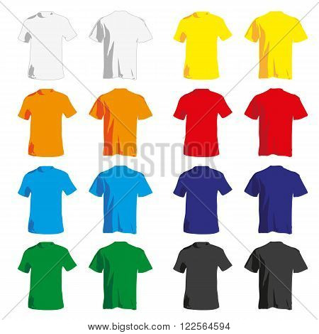 a set of colorful Tshirt for men