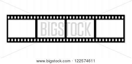 an illustration of an old filmstrip as a picture frame