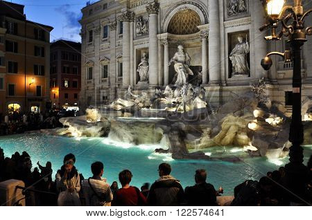 Trevi Fountain (fontana Di Trevi), Rome, Italy