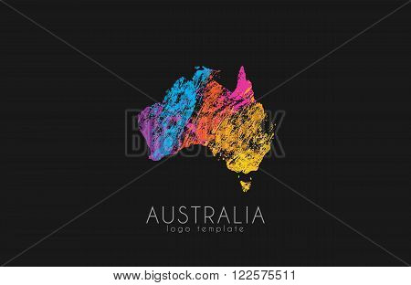 Abstract australia logo. Color Australia logo. Creative logo