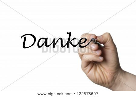 Danke Written By A Hand